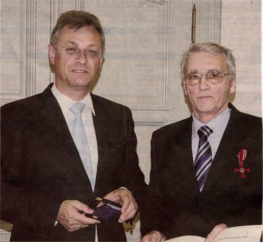 Peter Müller und Kultusminister Siegfried Schneider